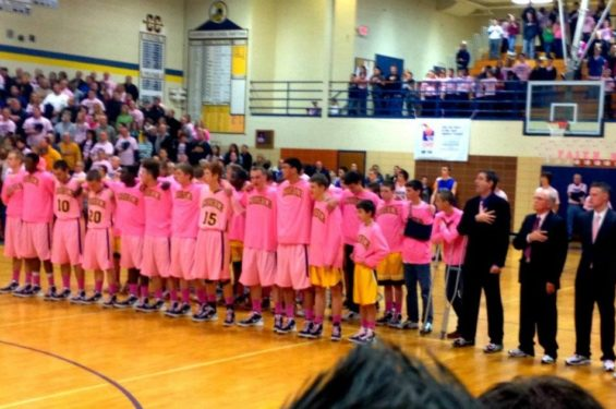 Coaches v Cancer game in January 2012